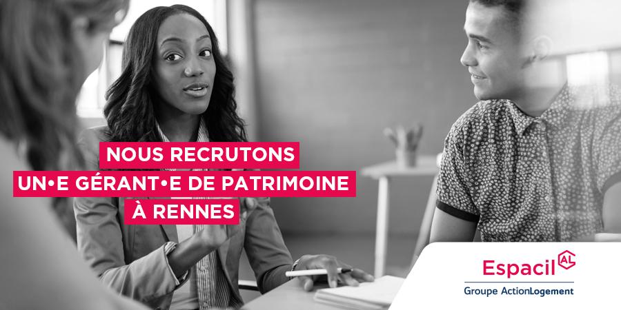 Recrutement: Gérant de Patrimoine - CDI F/H chez Espacil à Rennes
