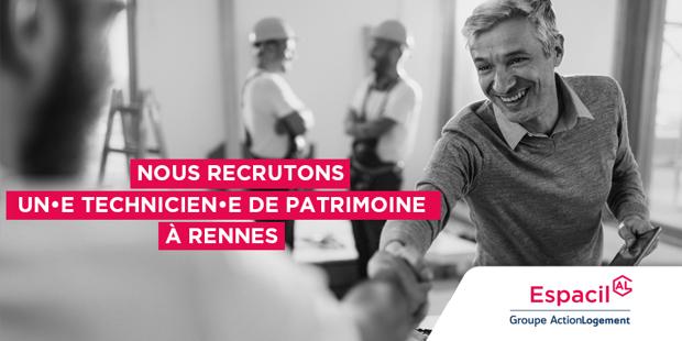 Recrutement: Technicien Patrimoine et Réhabilitation F/H chez Espacil à Rennes