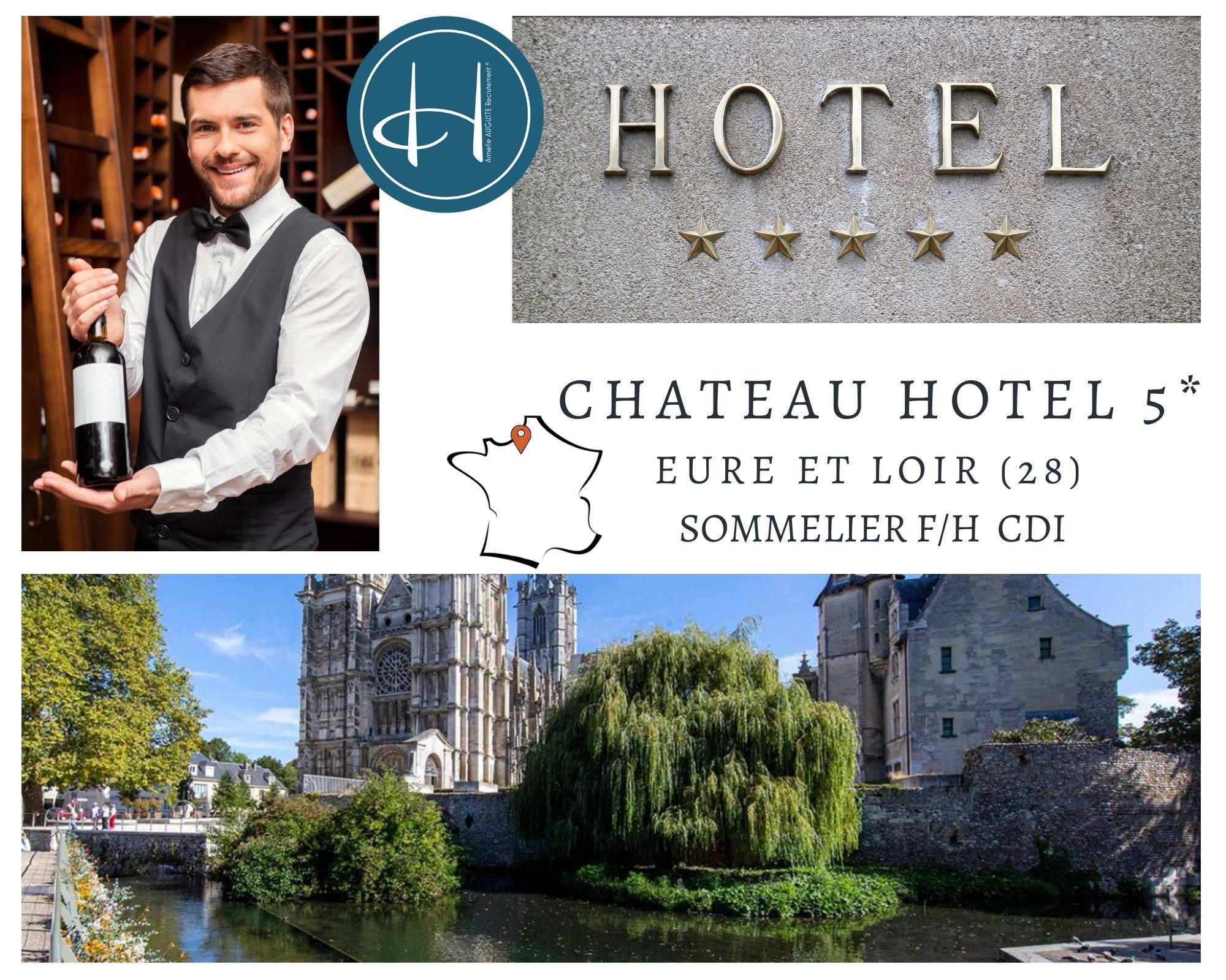 Recrutement: Sommelier - Ouverture - Château Hôtel 5* F/H chez Armelle AUGUSTE Recrutement® à Anet