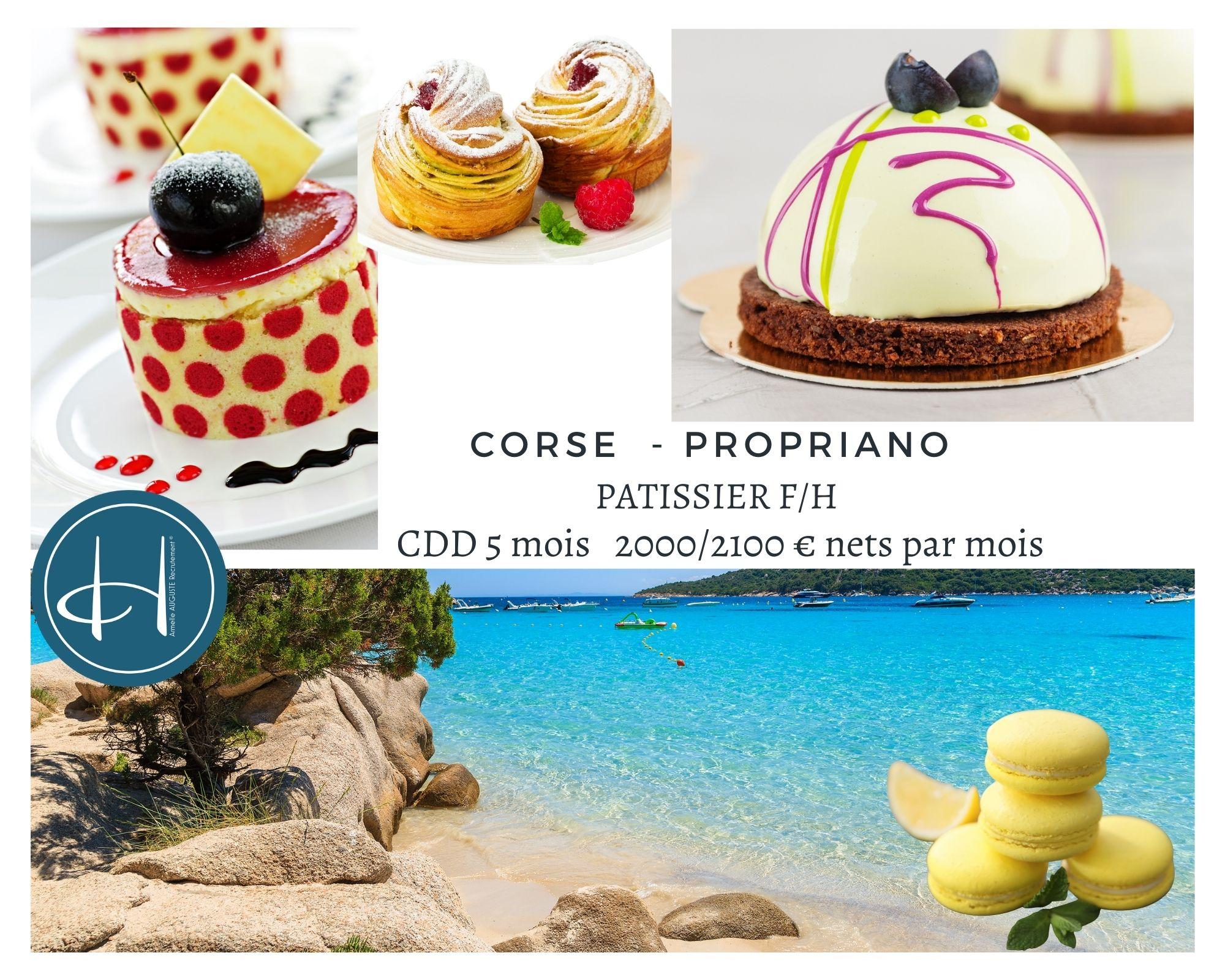 Recrutement: Pâtissier F/H chez Armelle AUGUSTE Recrutement® à Propriano