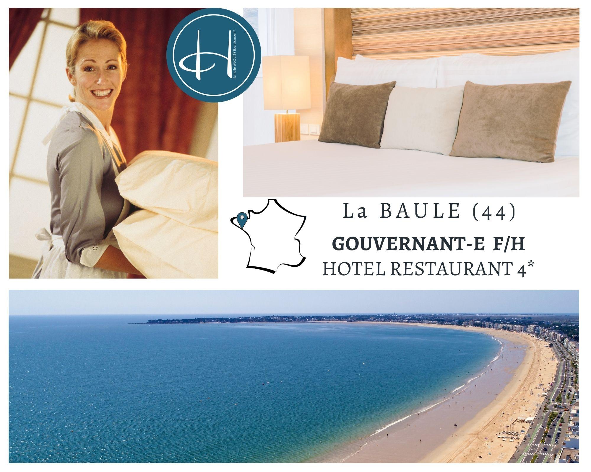 Recrutement: Gouvernante hôtel restaurant 4* F/H chez Armelle AUGUSTE Recrutement® à La Baule-Escoublac