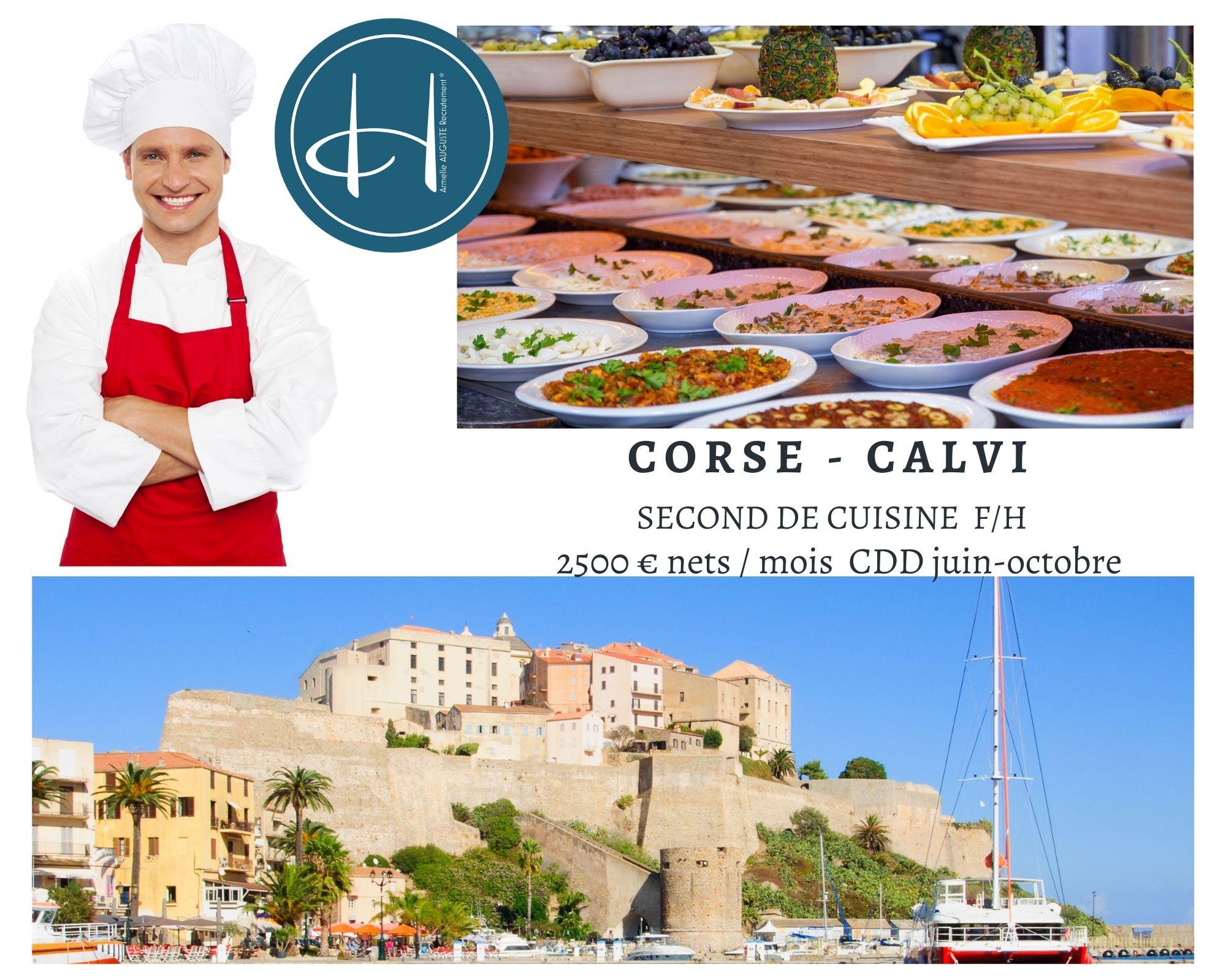 Recrutement: Second de cuisine F/H chez Armelle AUGUSTE Recrutement® à Calvi