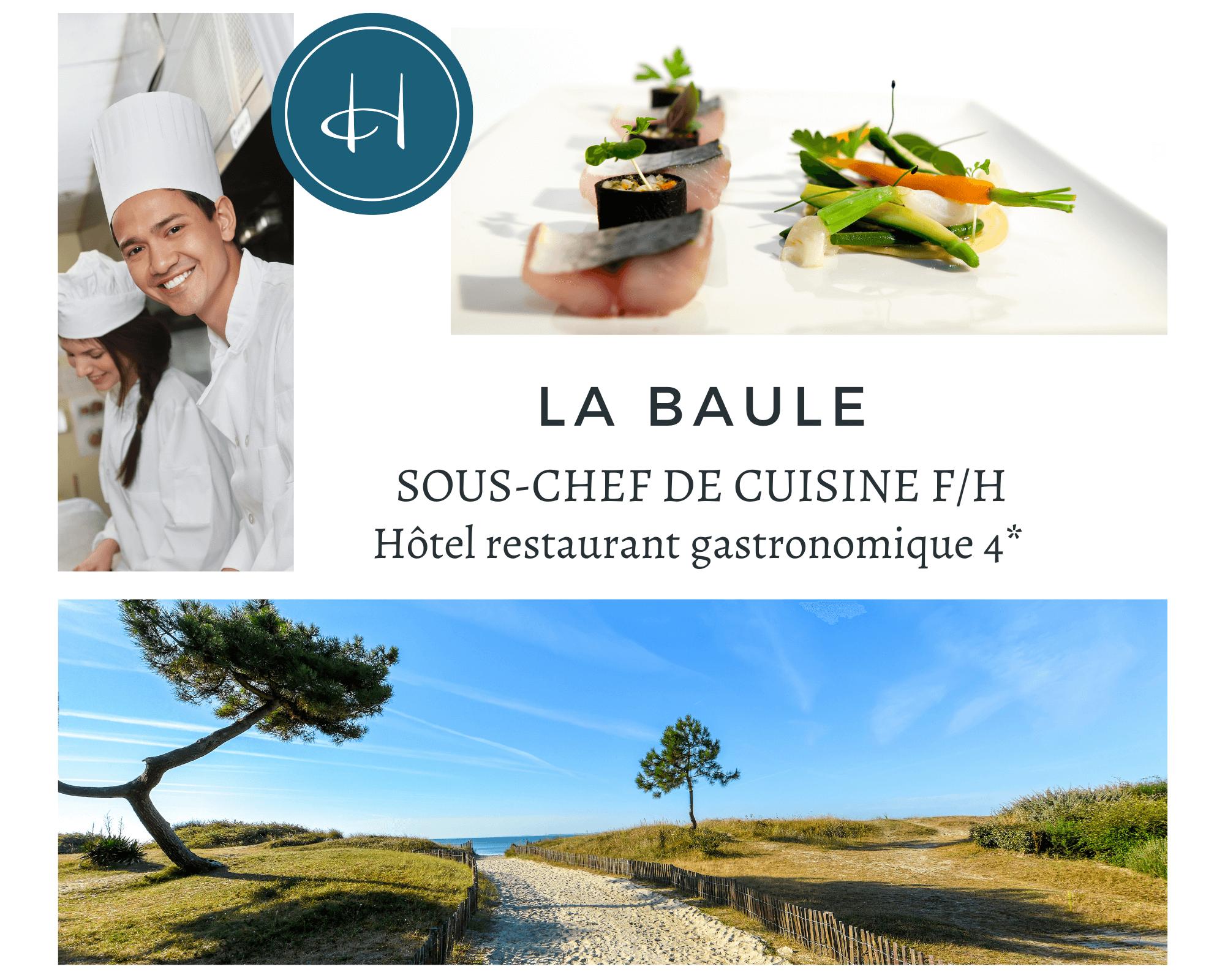 Recrutement: Sous-Chef de cuisine F/H chez Armelle AUGUSTE Recrutement® à La Baule-Escoublac