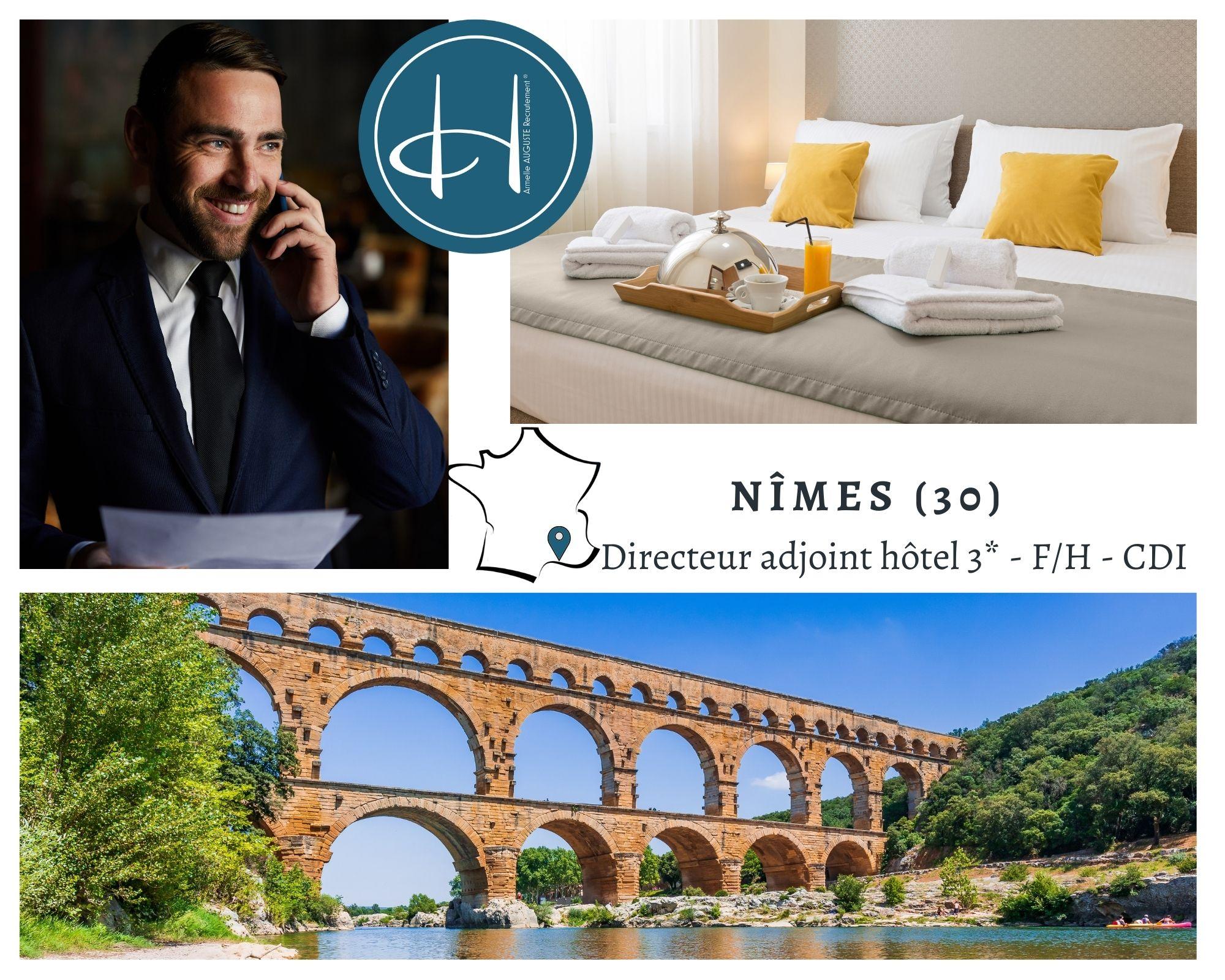 Recrutement: Directeur adjoint hôtel 3* F/H chez Armelle AUGUSTE Recrutement® à Nîmes