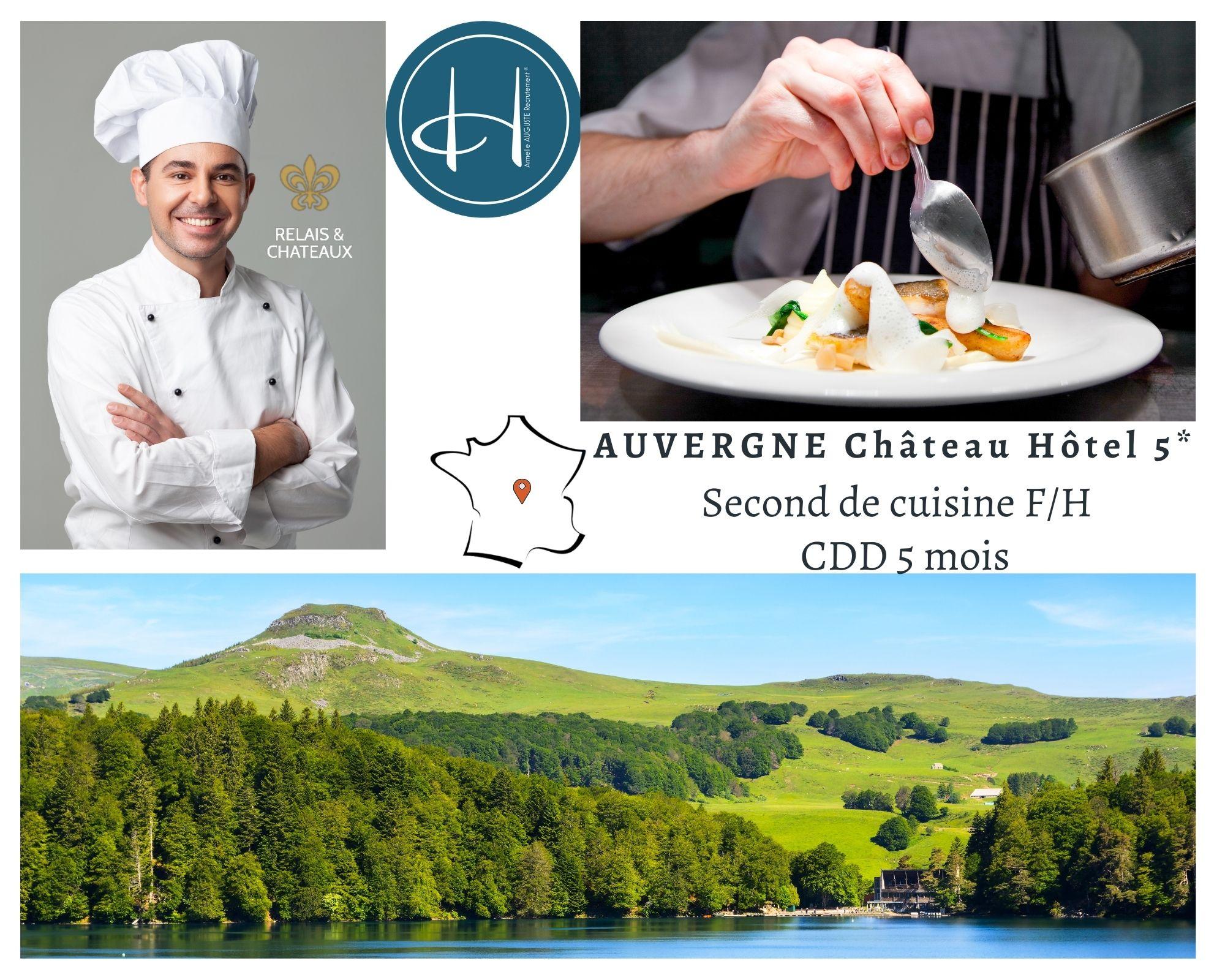 Recrutement: Second de cuisine F/H chez Armelle AUGUSTE Recrutement® à Montluçon