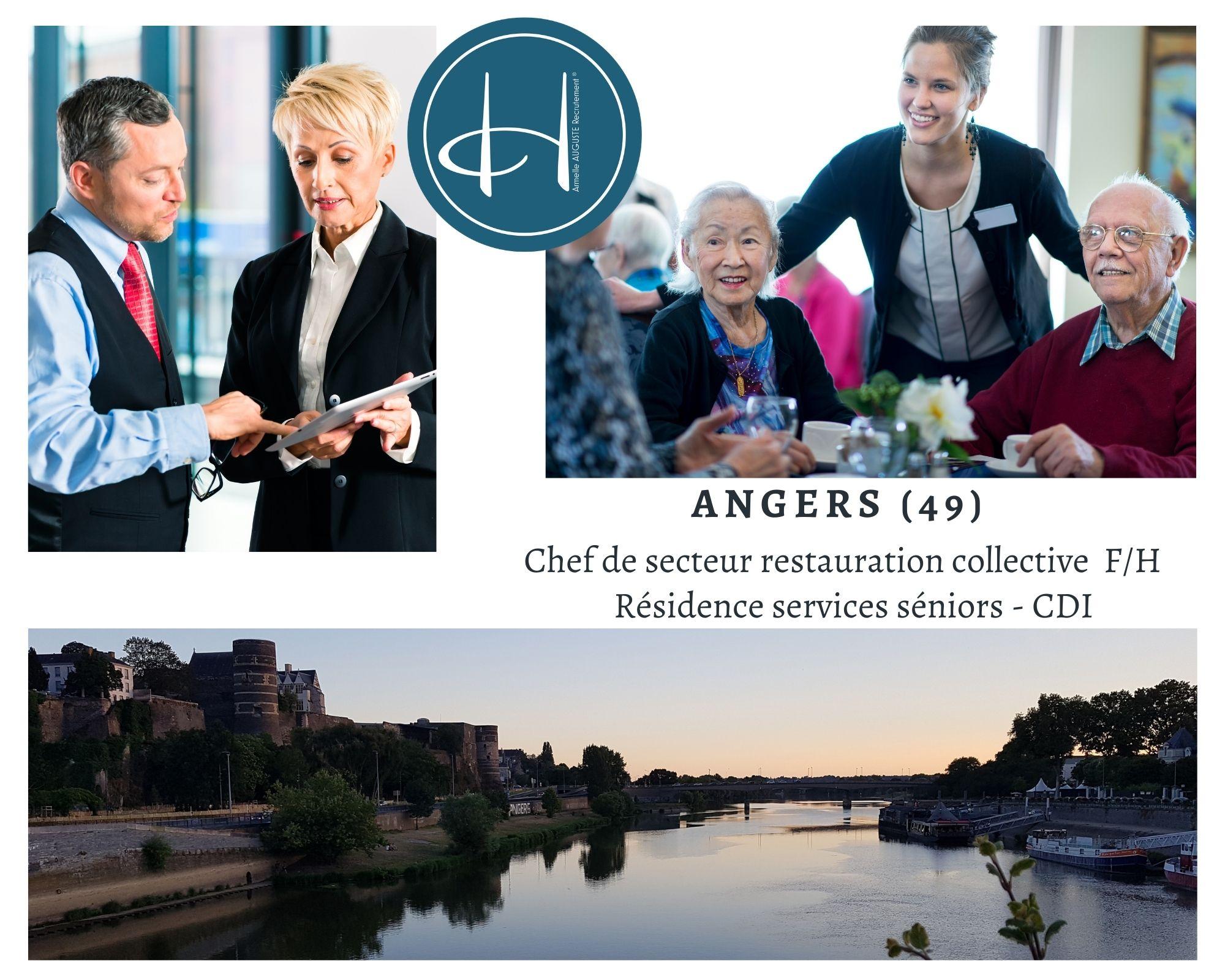 Recrutement: Chef de secteur restauration collective F/H chez Armelle AUGUSTE Recrutement® à Angers