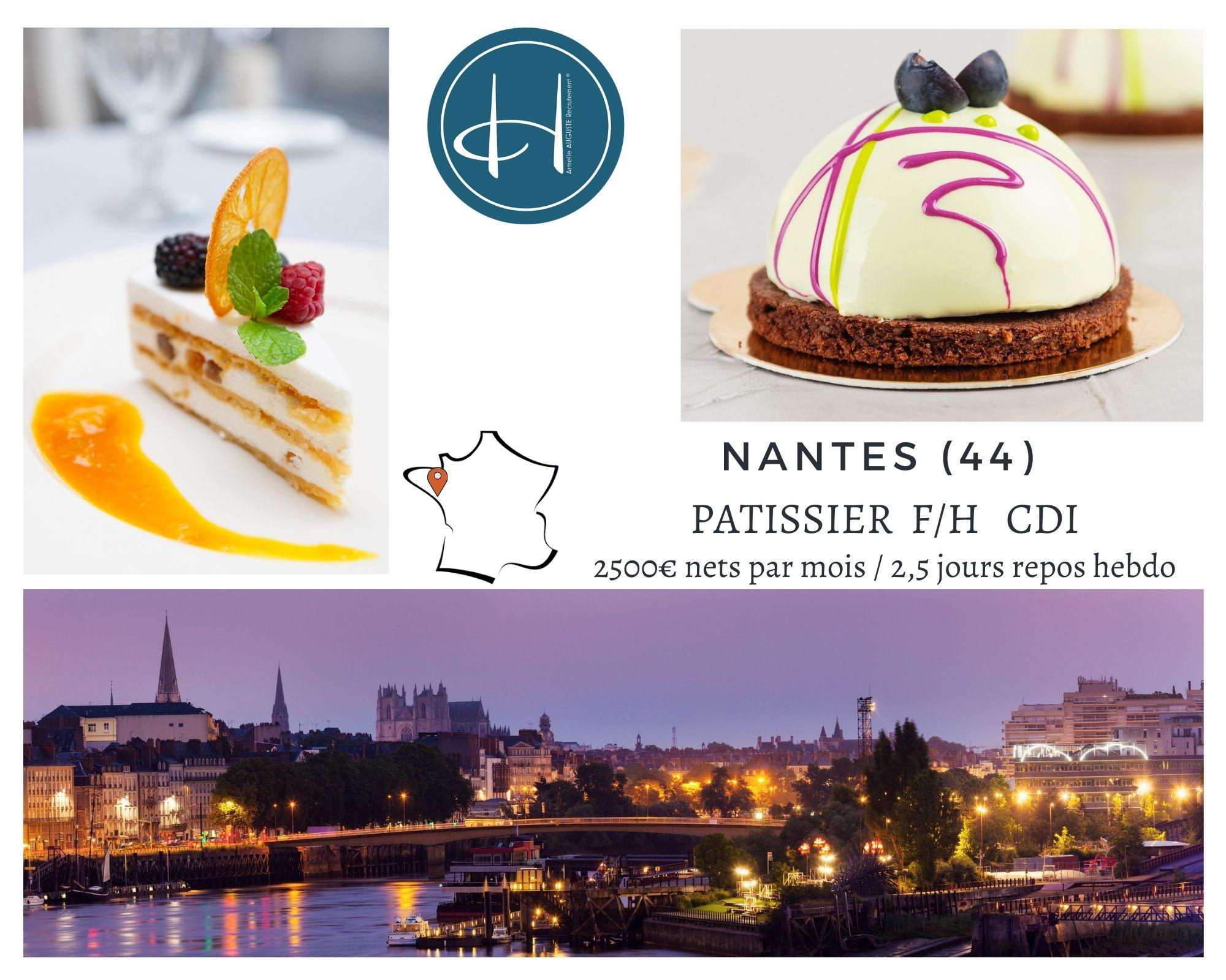 Recrutement: Pâtissier F/H chez Armelle AUGUSTE Recrutement® à Nantes