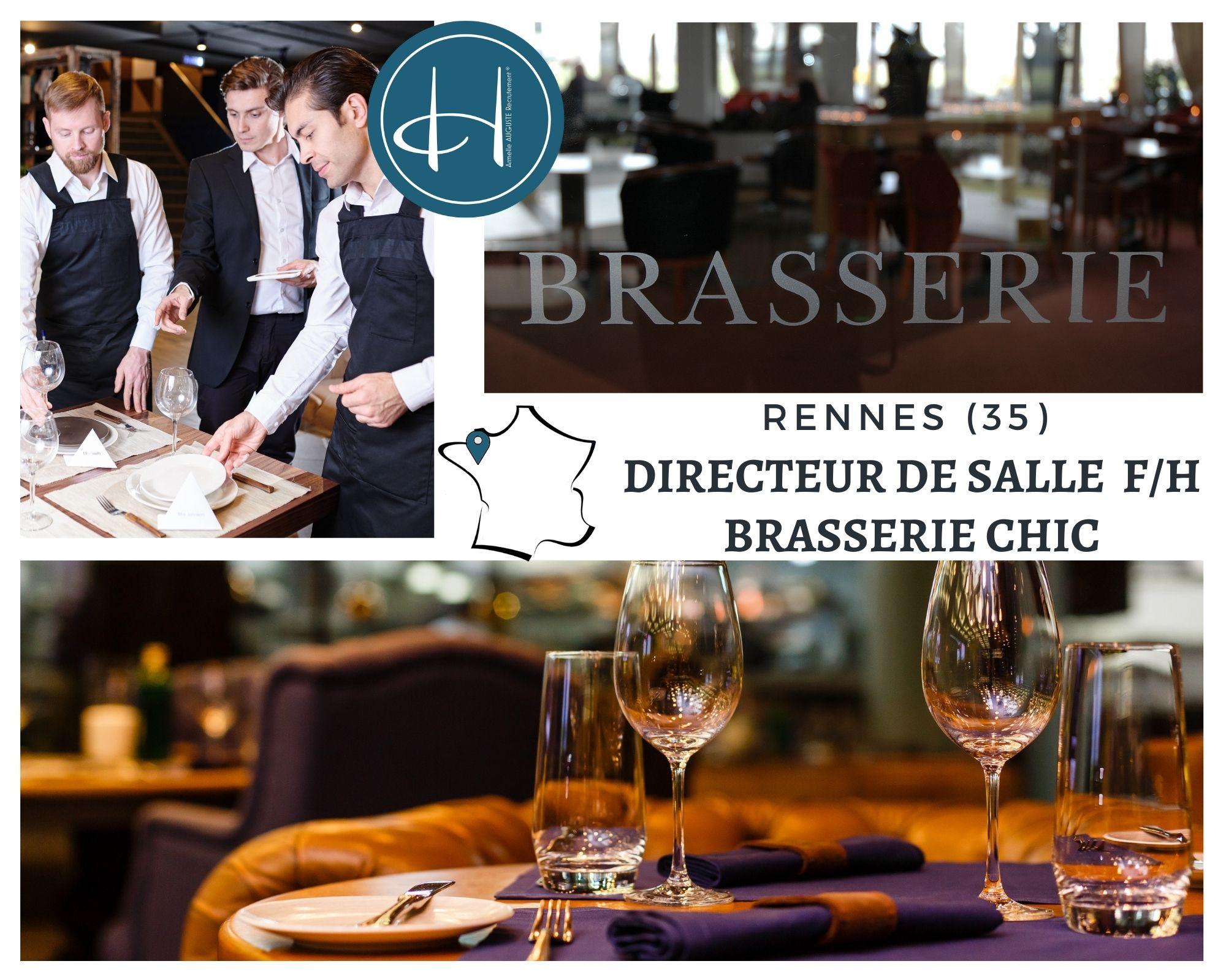 Recrutement: Directeur Brasserie Chic F/H chez Armelle AUGUSTE Recrutement® à Rennes