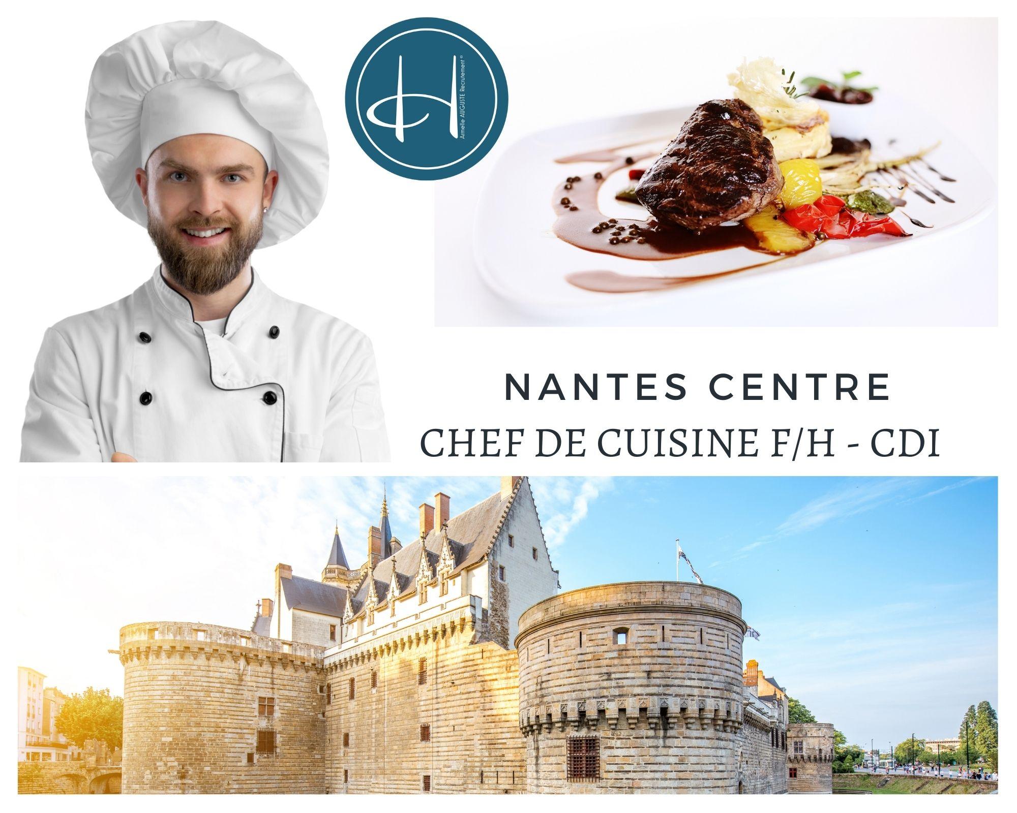 Recrutement: Chef de cuisine Nantes Centre F/H chez Armelle AUGUSTE Recrutement® à Nantes