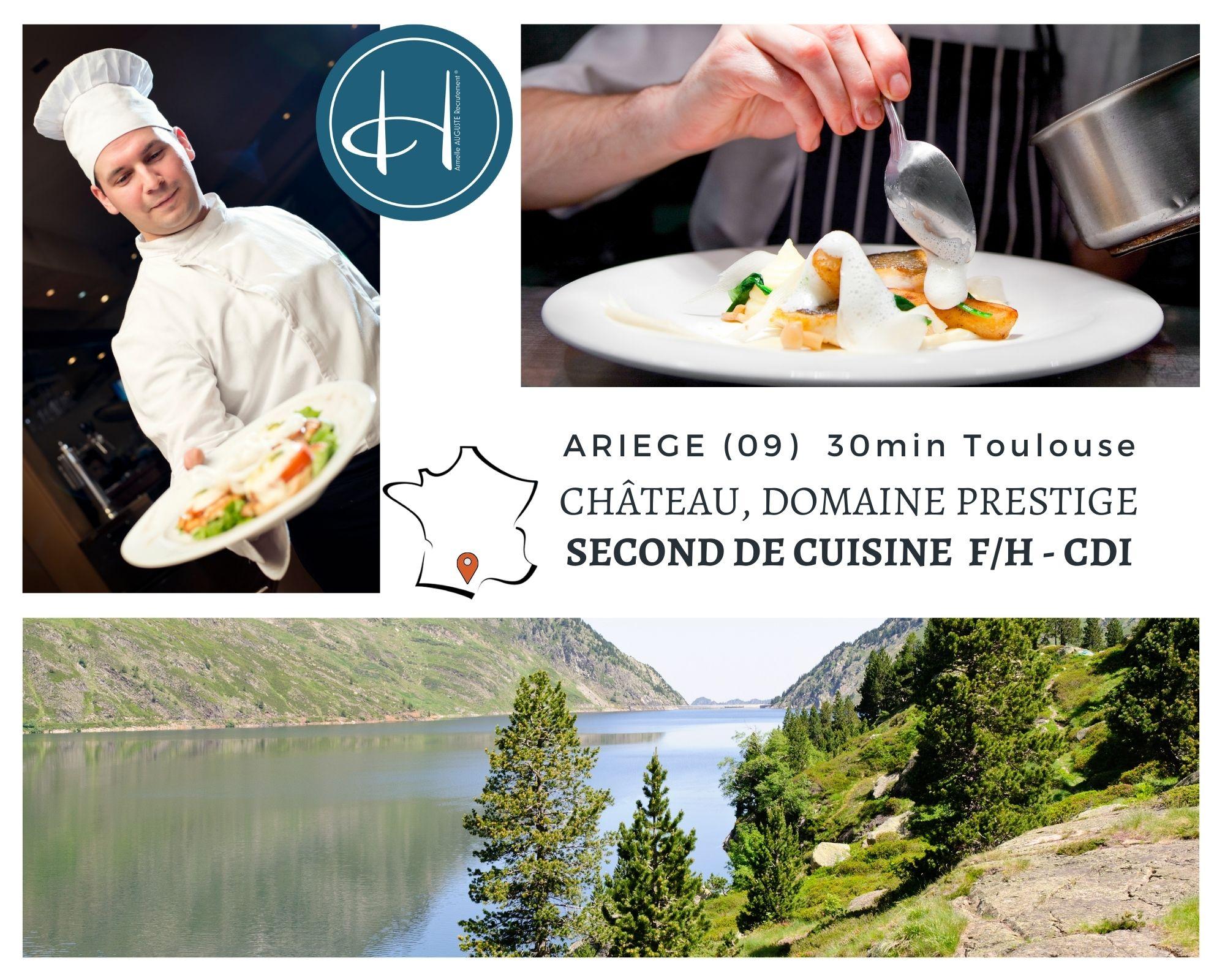 Recrutement: Second de cuisine F/H chez Armelle AUGUSTE Recrutement® à Foix