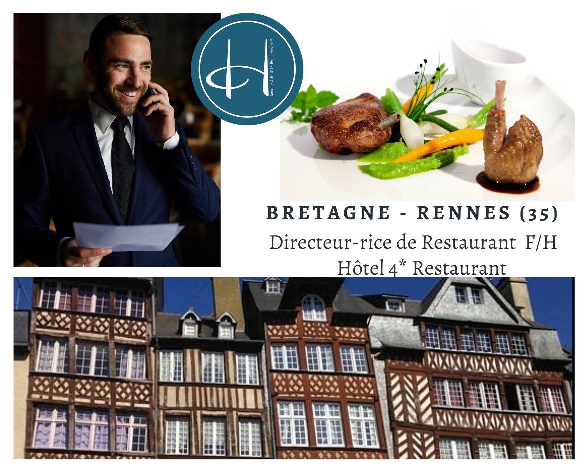 Recrutement: Directeur de restaurant F/H chez Armelle AUGUSTE Recrutement® à Rennes