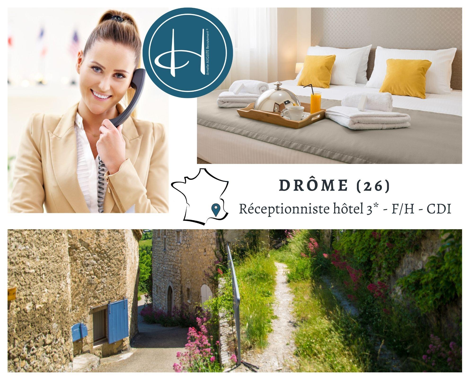 Recrutement: Réceptionniste hôtel F/H chez Armelle AUGUSTE Recrutement® à chamaret