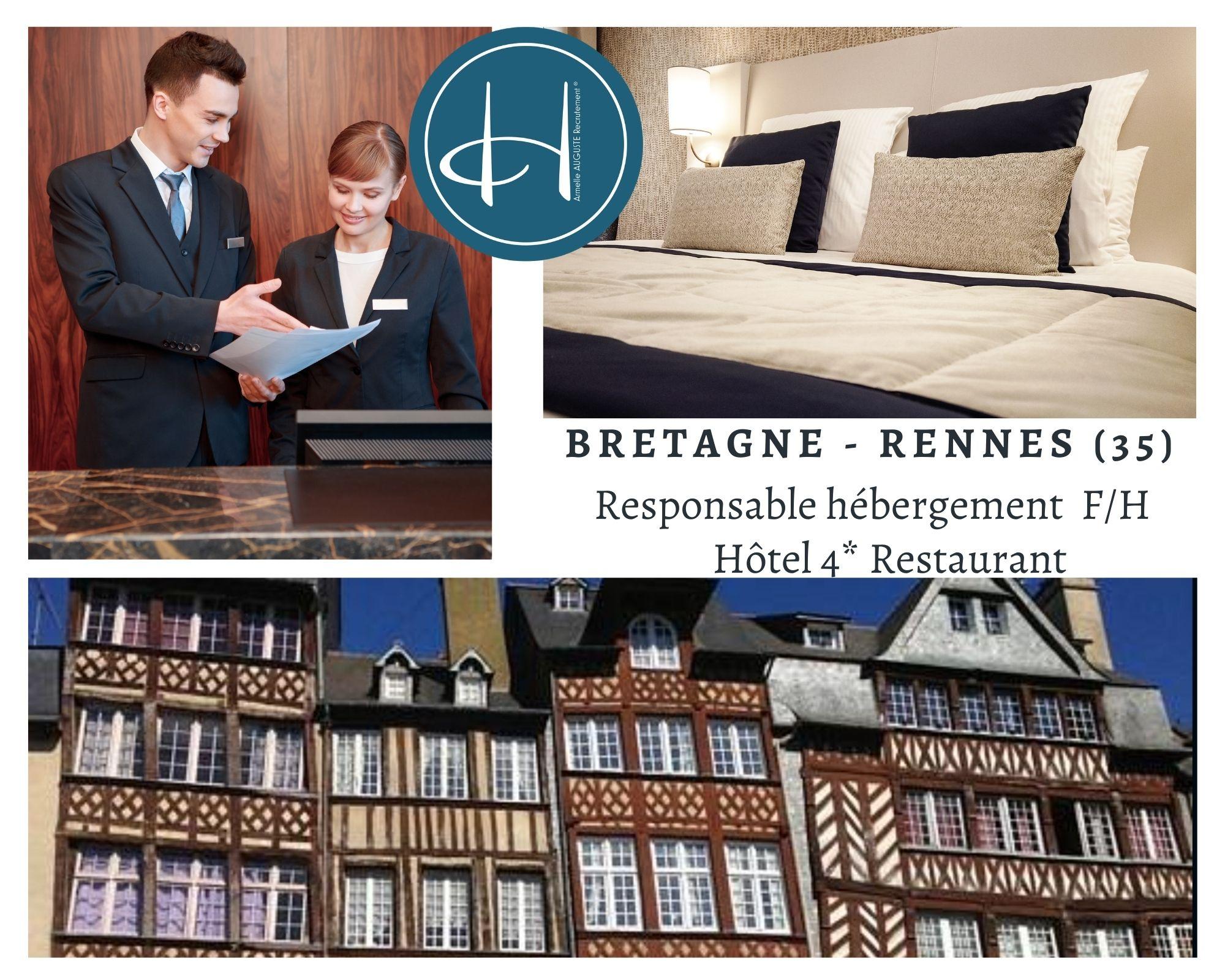 Recrutement: Responsable hébergement hôtel F/H chez Armelle AUGUSTE Recrutement® à Rennes