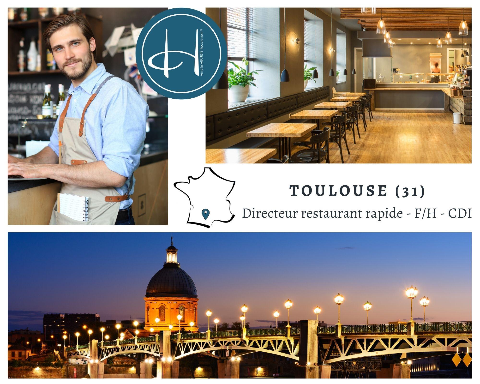 Recrutement: Directeur restaurant F/H chez Armelle AUGUSTE Recrutement® à Toulouse