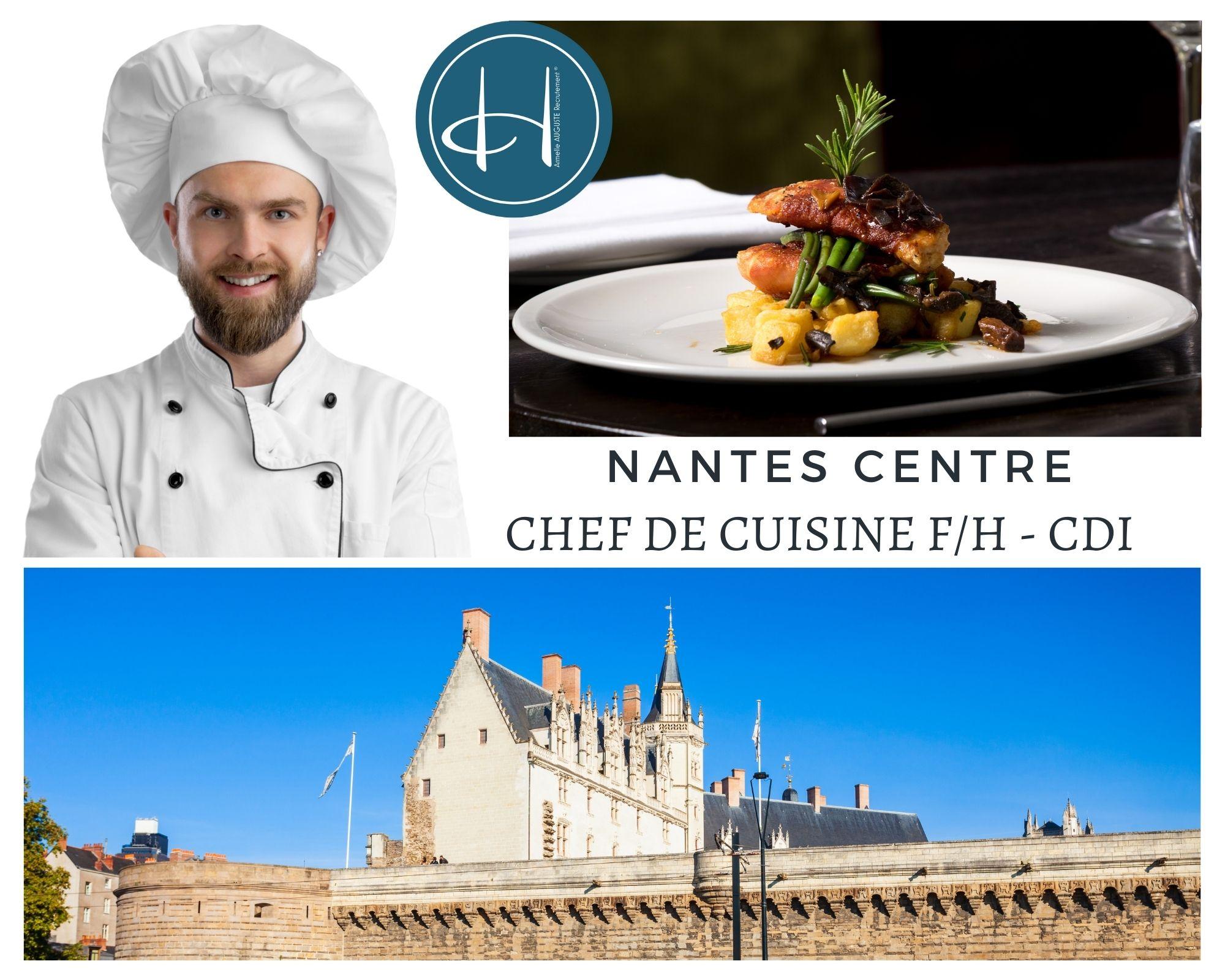 Recrutement: Chef de cuisine F/H chez Armelle AUGUSTE Recrutement® à Nantes