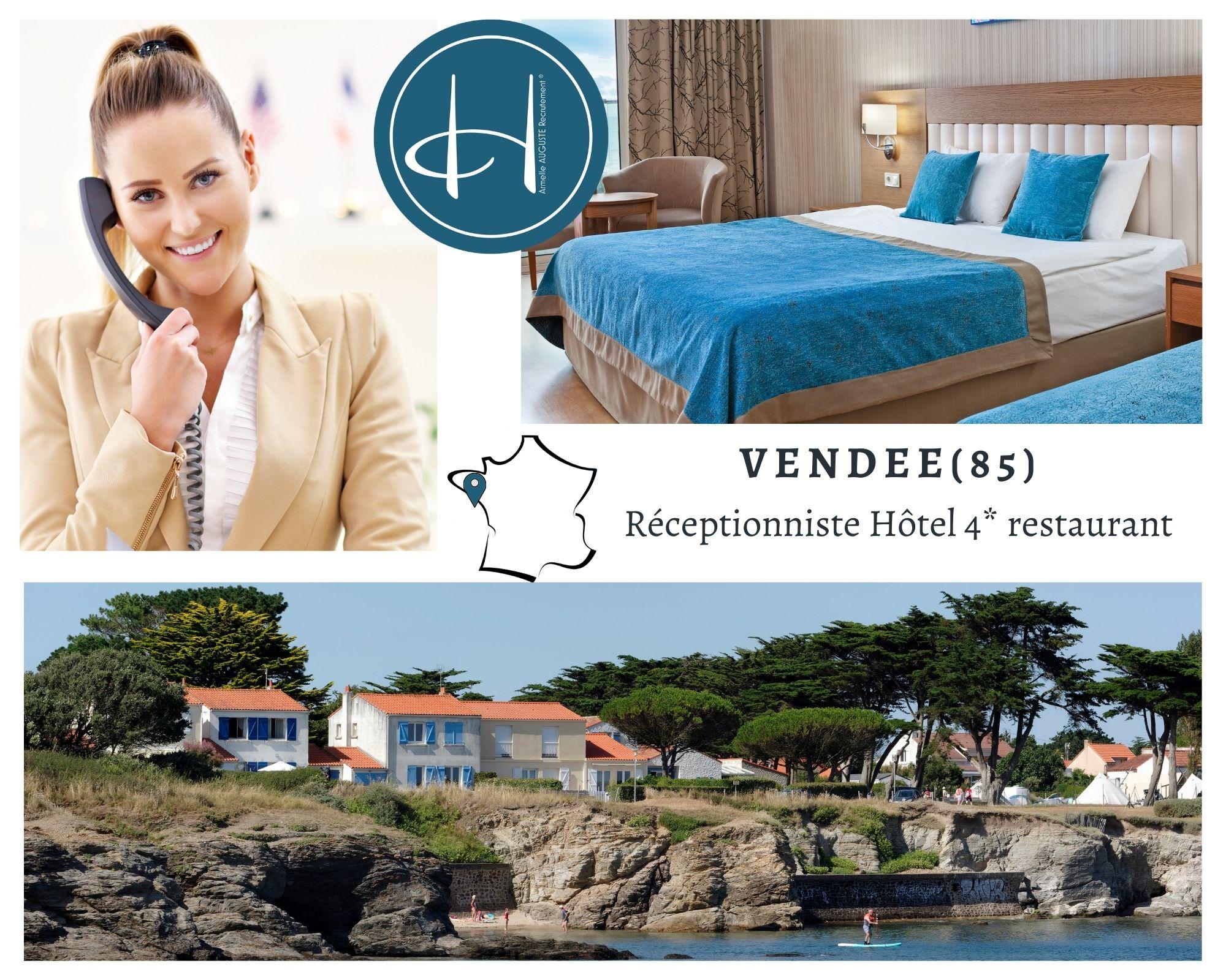 Recrutement: réceptionniste hôtel F/H chez Armelle AUGUSTE Recrutement® à Noirmoutier-en-l'Île