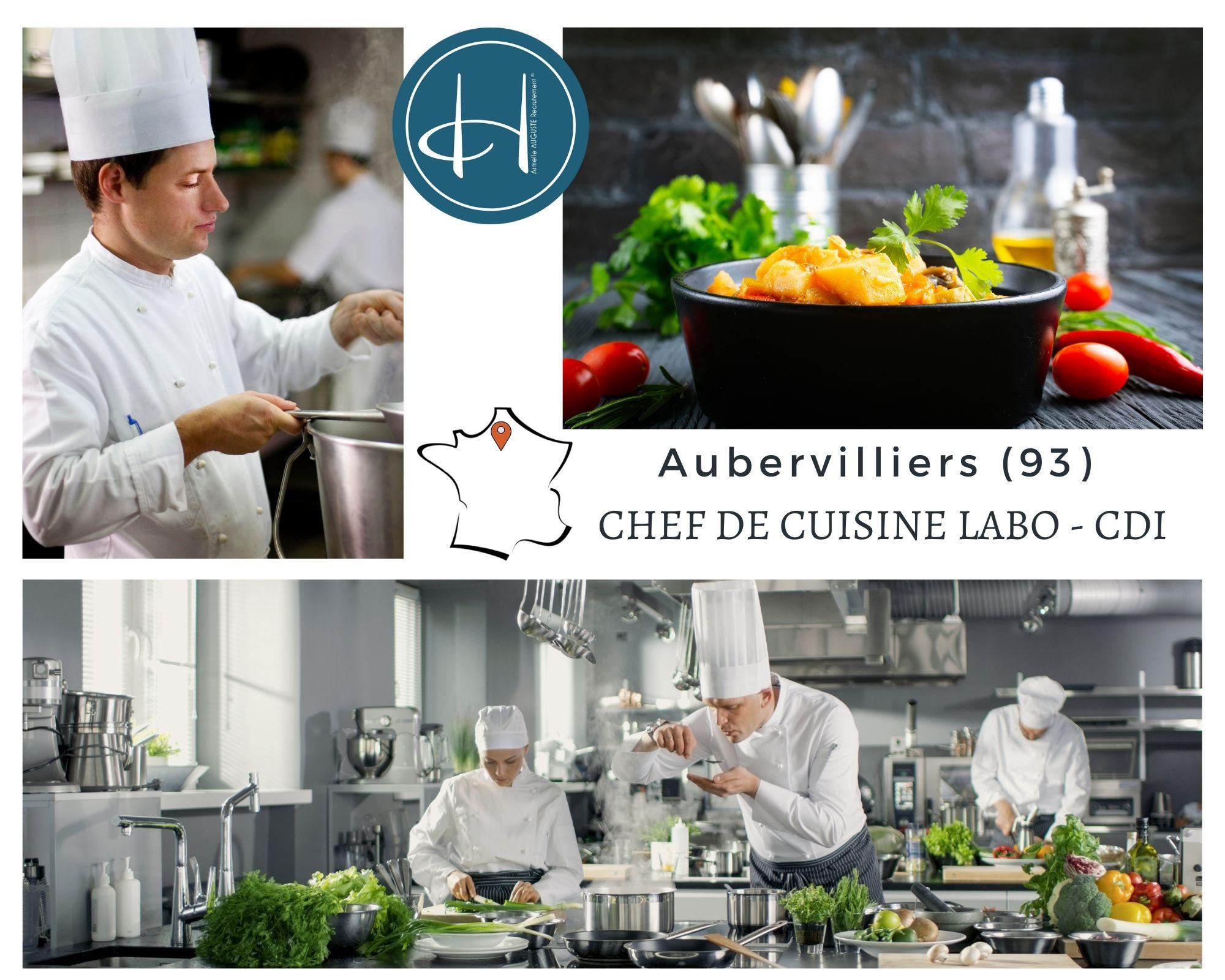 Recrutement: Chef de cuisine F/H chez Armelle AUGUSTE Recrutement® à Aubervilliers