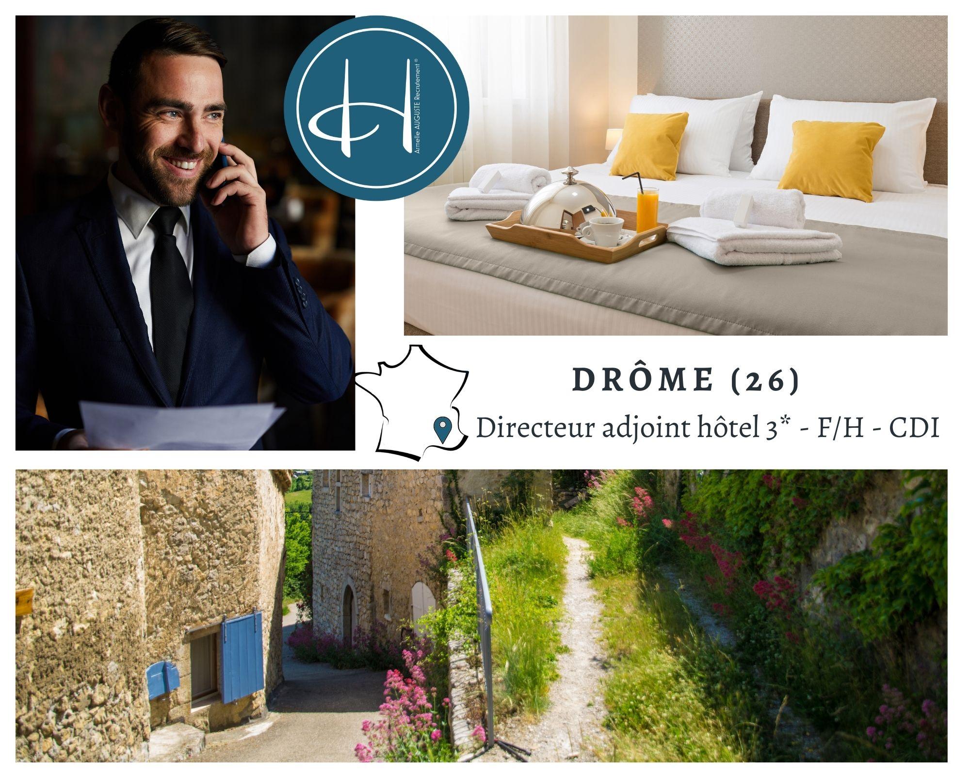 Recrutement: Adjoint de Direction hôtel 3* F/H chez Armelle AUGUSTE Recrutement® à chamaret