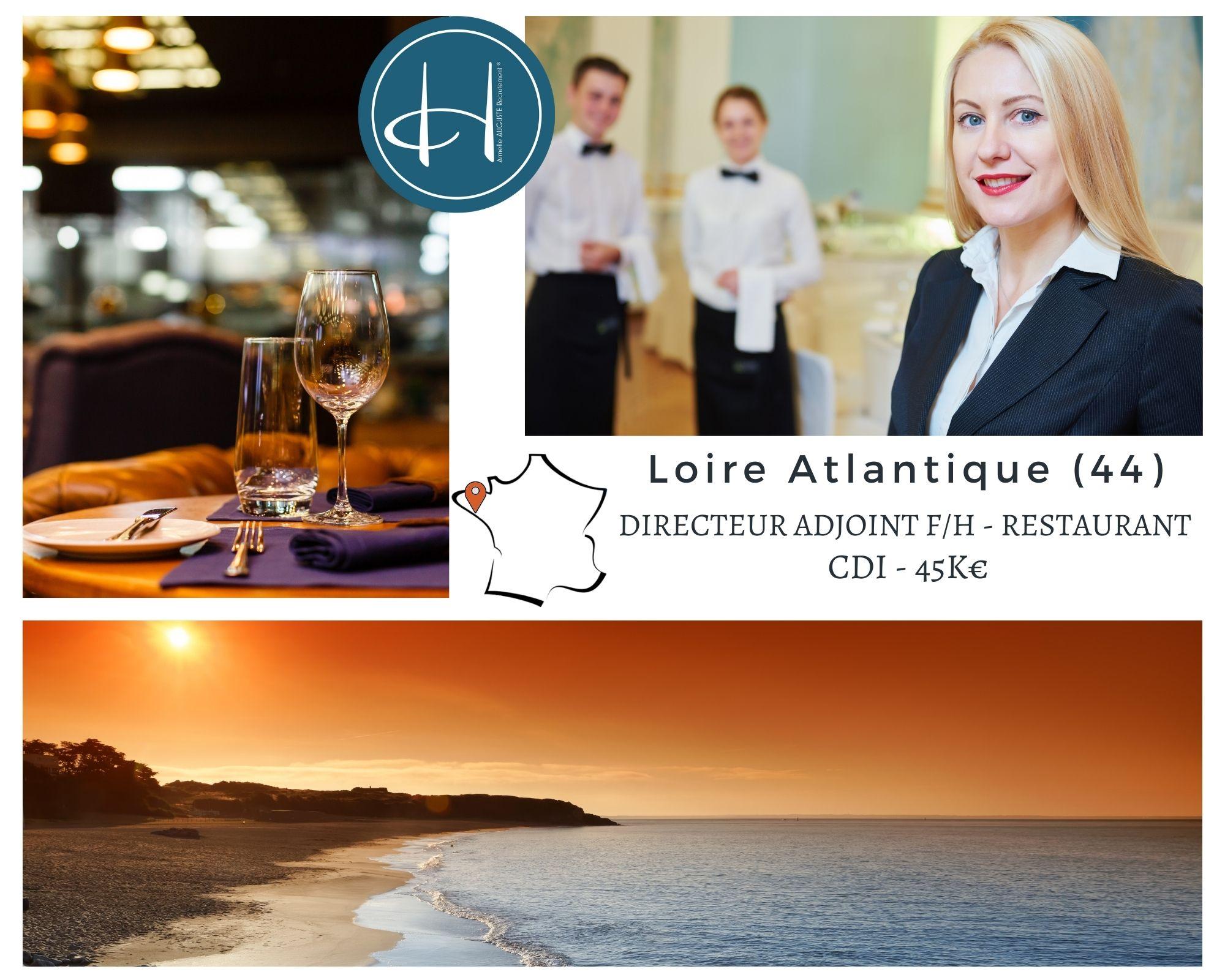 Recrutement: Directeur adjoint restaurant F/H chez Armelle AUGUSTE Recrutement® à saint nazaire