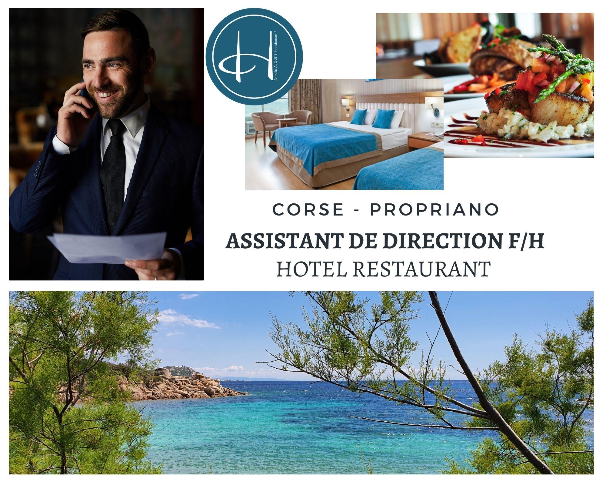 Recrutement: Adjoint de Direction restauration - Hôtel restaurant F/H chez Armelle AUGUSTE Recrutement® à Propriano