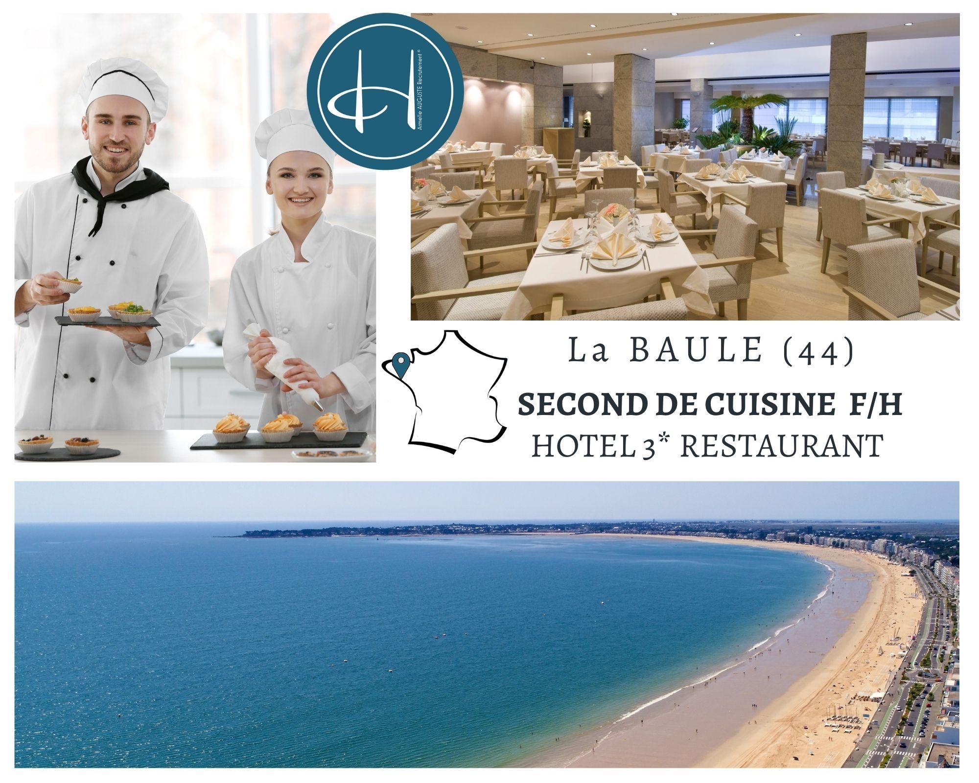Recrutement: Second de cuisine F/H chez Armelle AUGUSTE Recrutement® à La Baule-Escoublac