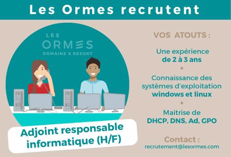 Recrutement: System.Collections.Generic.Dictionary`2[System.String,System.String] chez LES ORMES DOMAINE & RESORT à Dol-de-Bretagne
