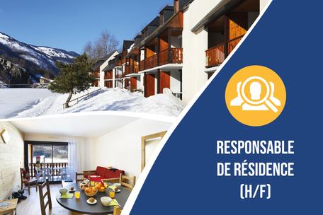 Recrutement: RESPONSABLE DE RÉSIDENCE - Loudenvielle F/H chez Nemea à Loudenvielle