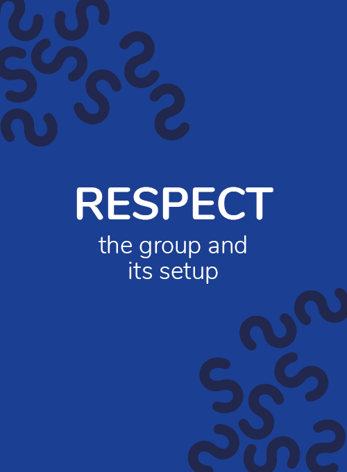 Respect the organisation visual