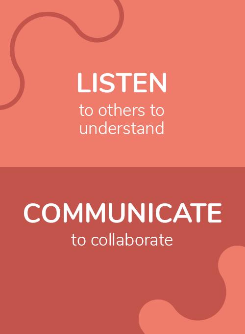 Listen and communicate visual